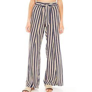 Faithful The Brand Tiki Tiki Stripe Flowy Pants